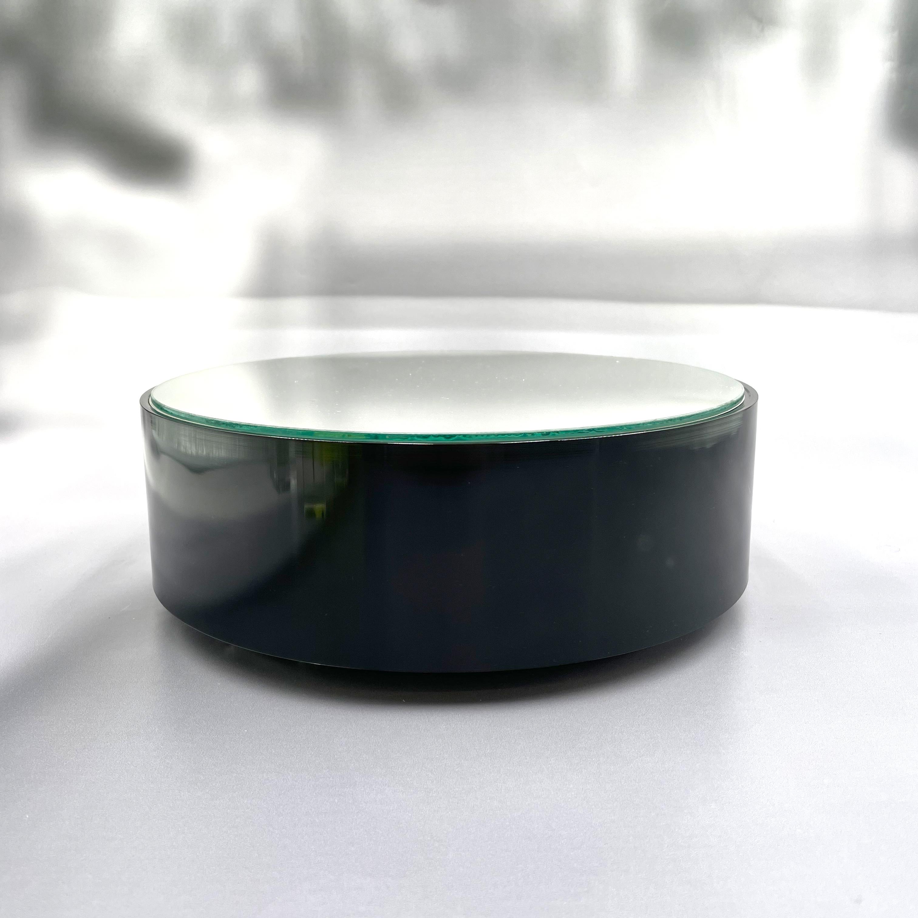 Hochwertige Batterie-Drehbühne schwarz mit Spiegelplatte - Laufzeit bis zu einem Jahr