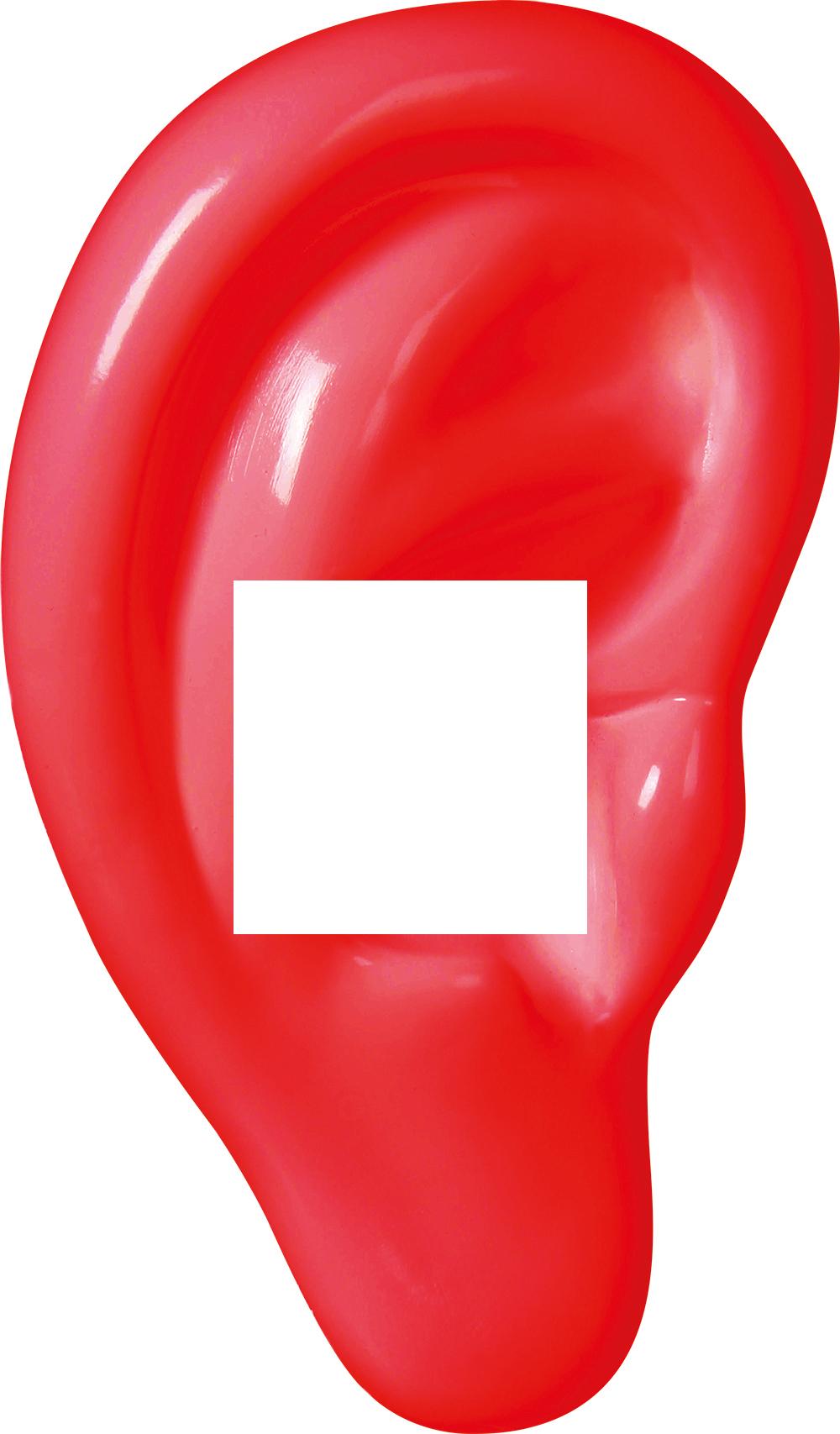 Decoframefolie Ohr rot Hörgeräte