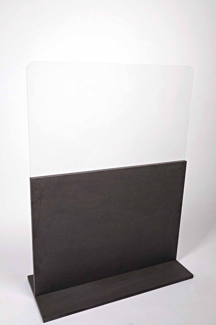Raumteiler mit Acrylscheibe - schwarz