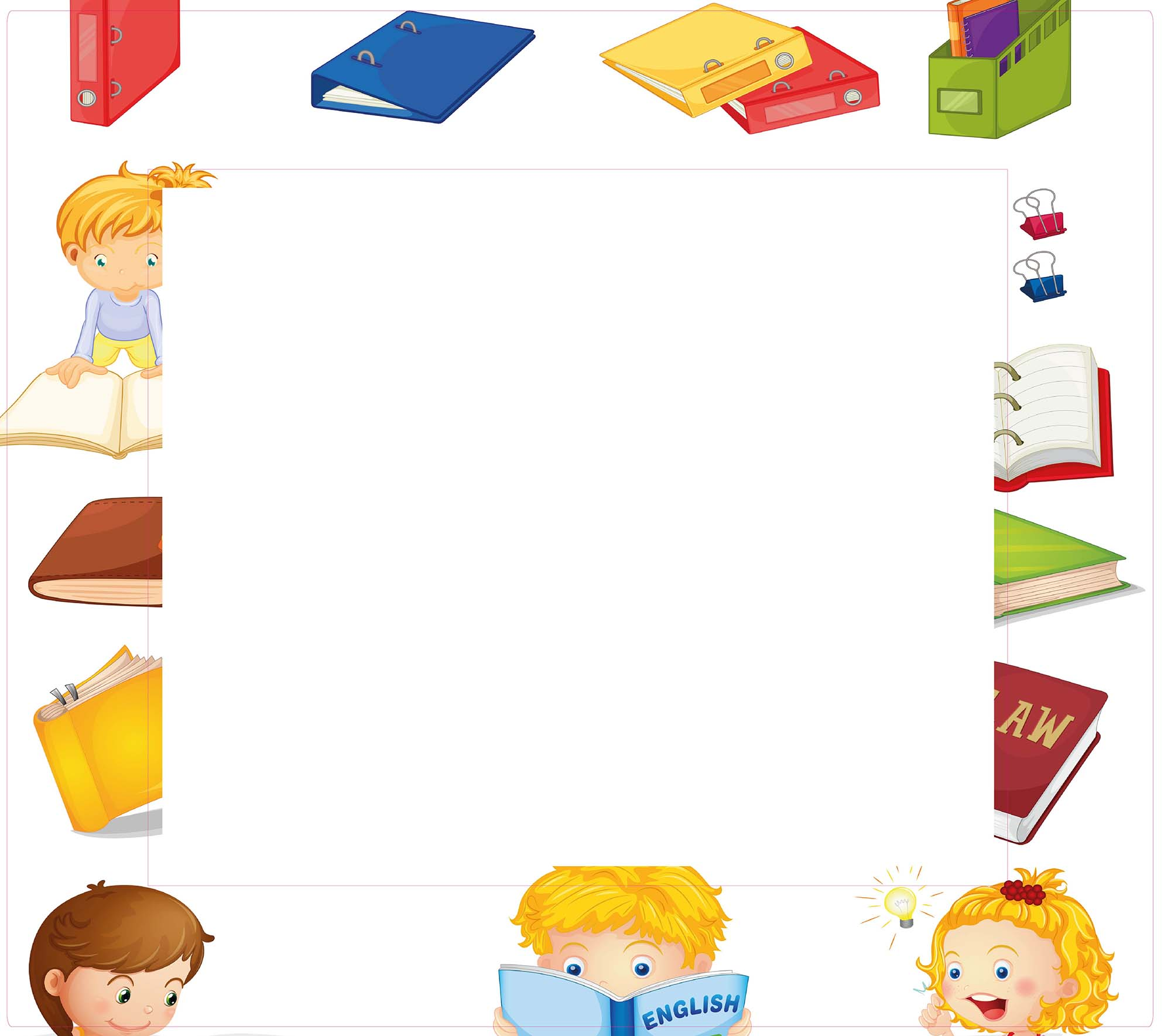 1er Set Decoframe Folien für Buchhandlungen. Kinder