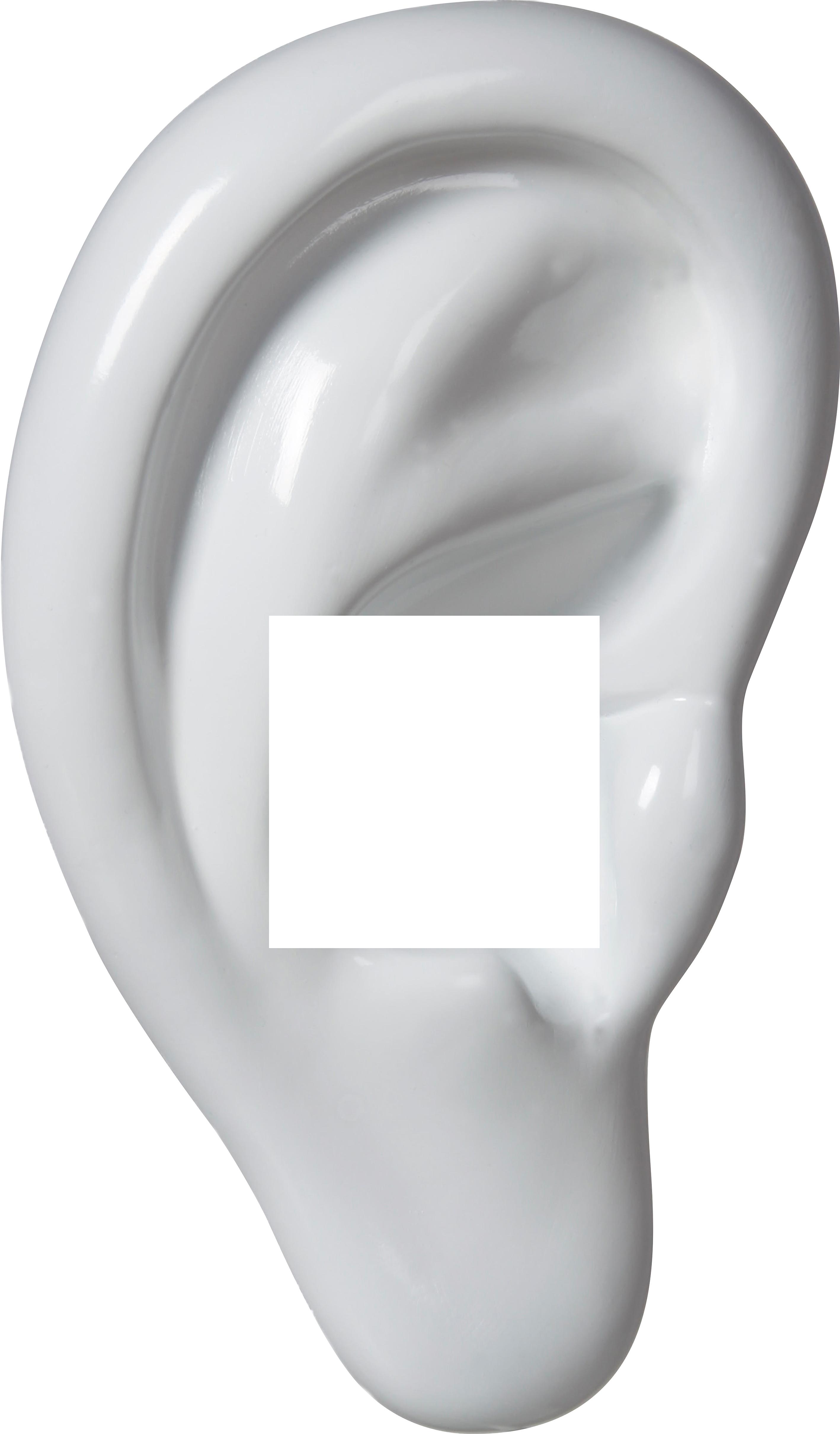 Decoframefolie Ohr weiss Hörgeräte