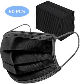 Medizinische Einwegmasken 50er Pack schwarz
