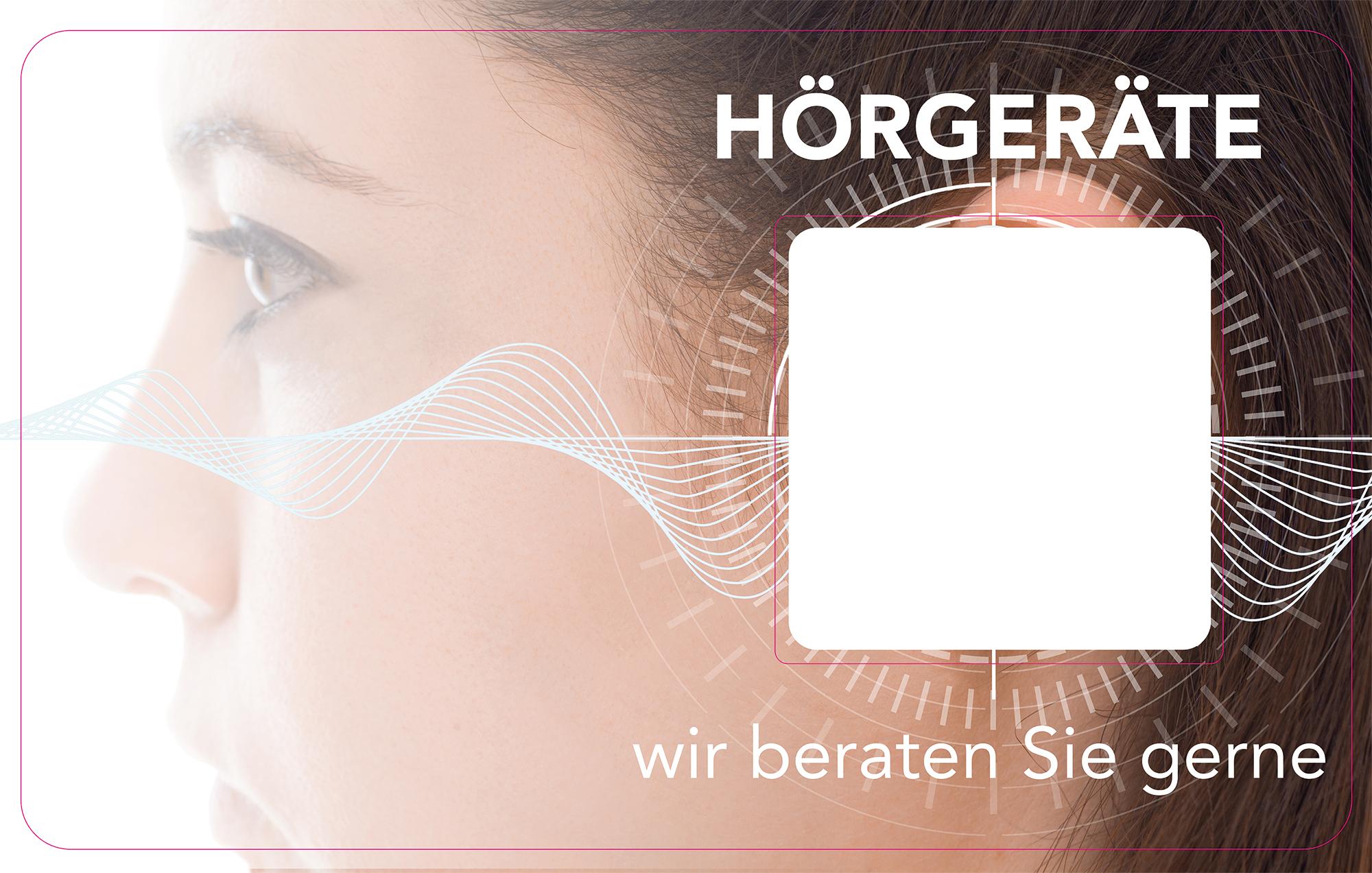 Decoframe Frau Spiral Hörgeräte