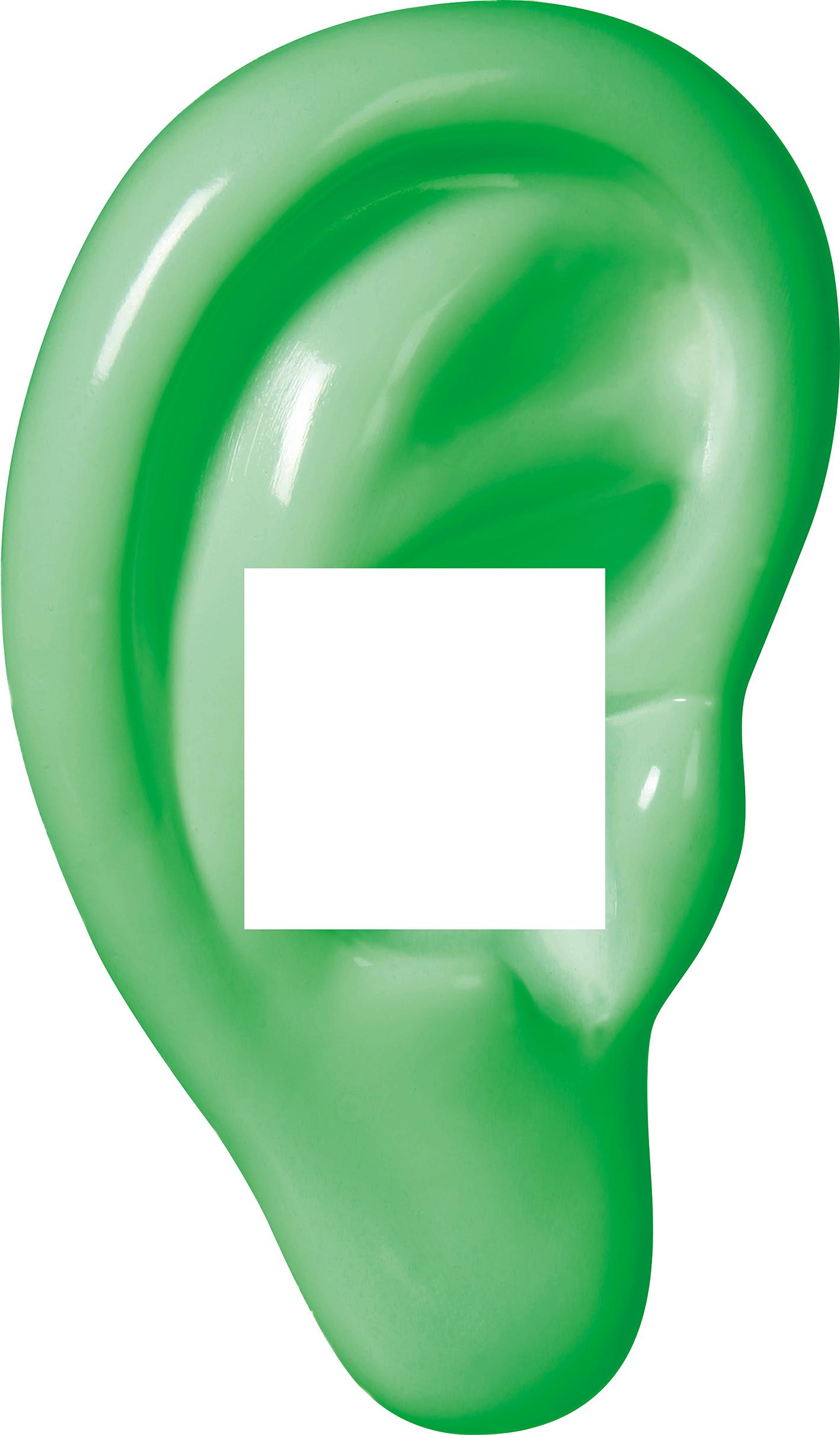 Decoframefolie Ohr grün Hörgeräte