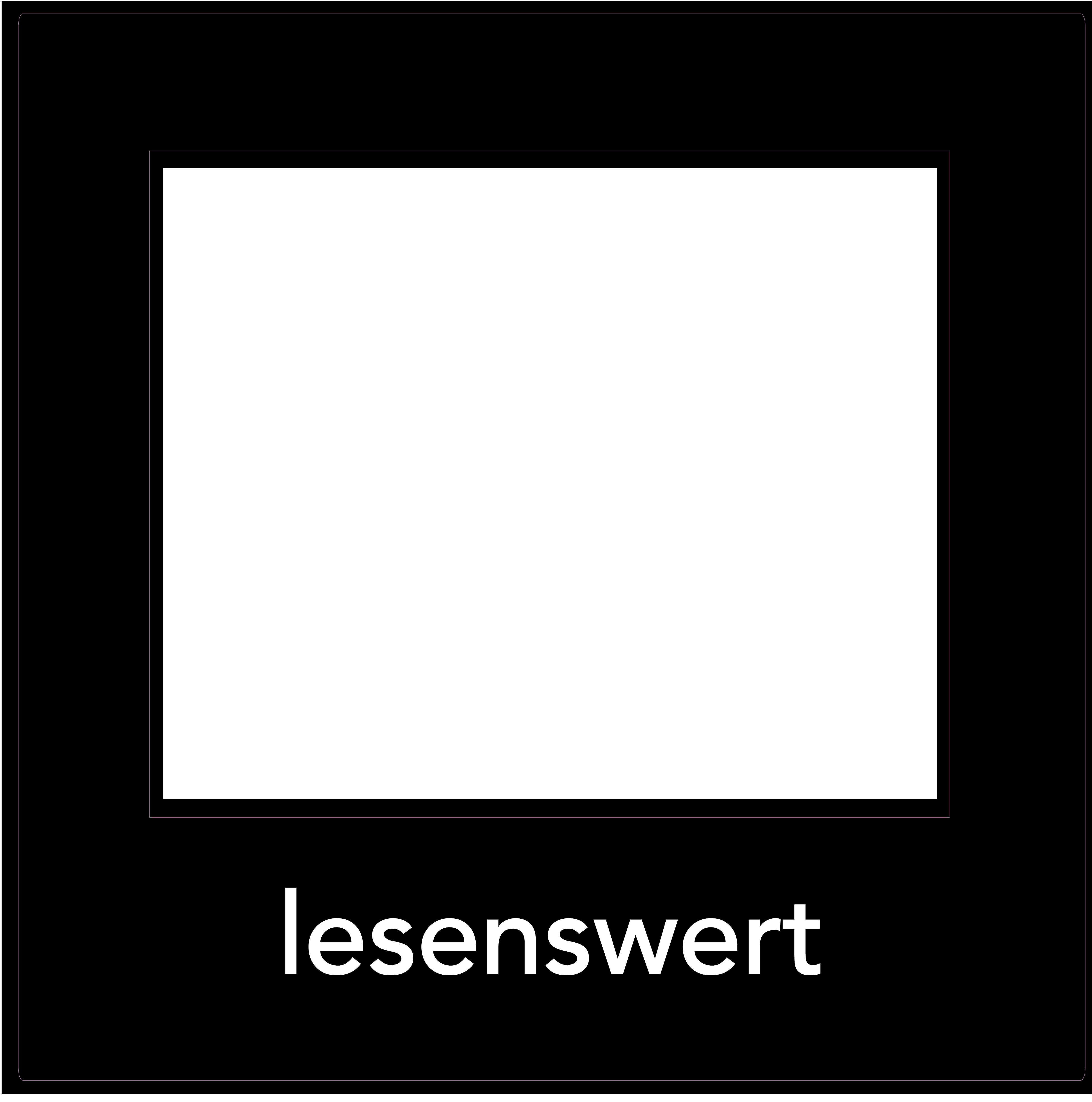 1er Set Decoframe Folien für Buchhandlungen. Schwarz