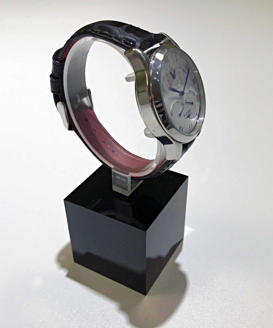 Uhrenhalter schwarzes Acryl