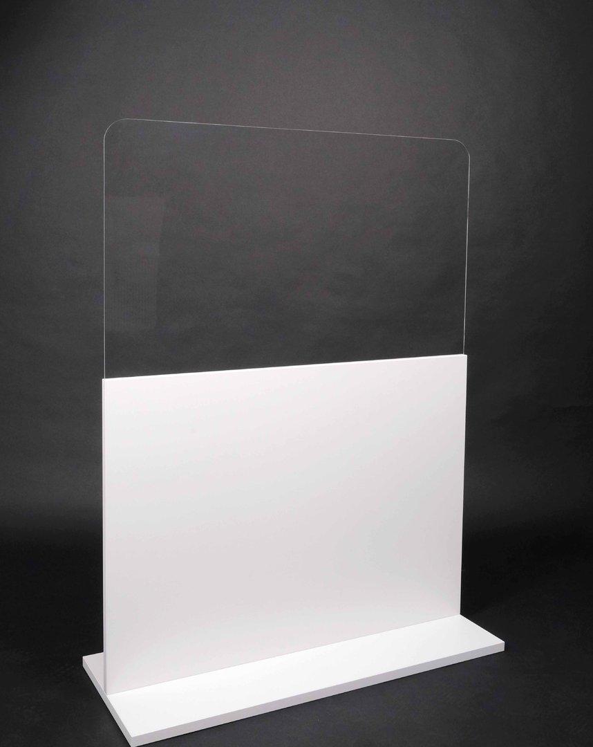 Raumteiler mit Acrylscheibe - weiß