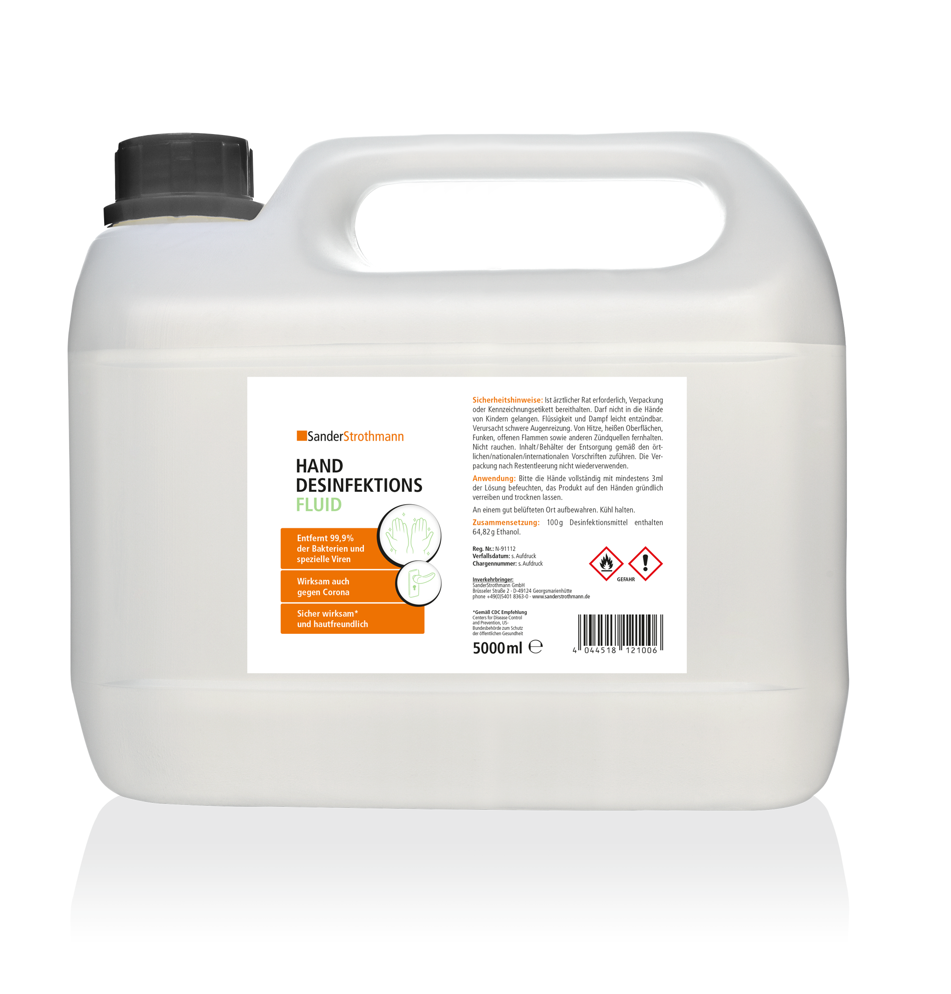 Desinfektionmittel flüssig 5 Liter Kanister