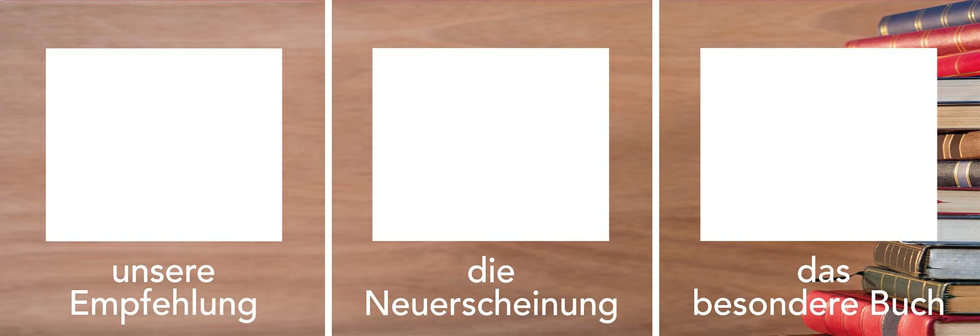 3er Set Decoframe Folien für Buchhandlungen Bücherwand