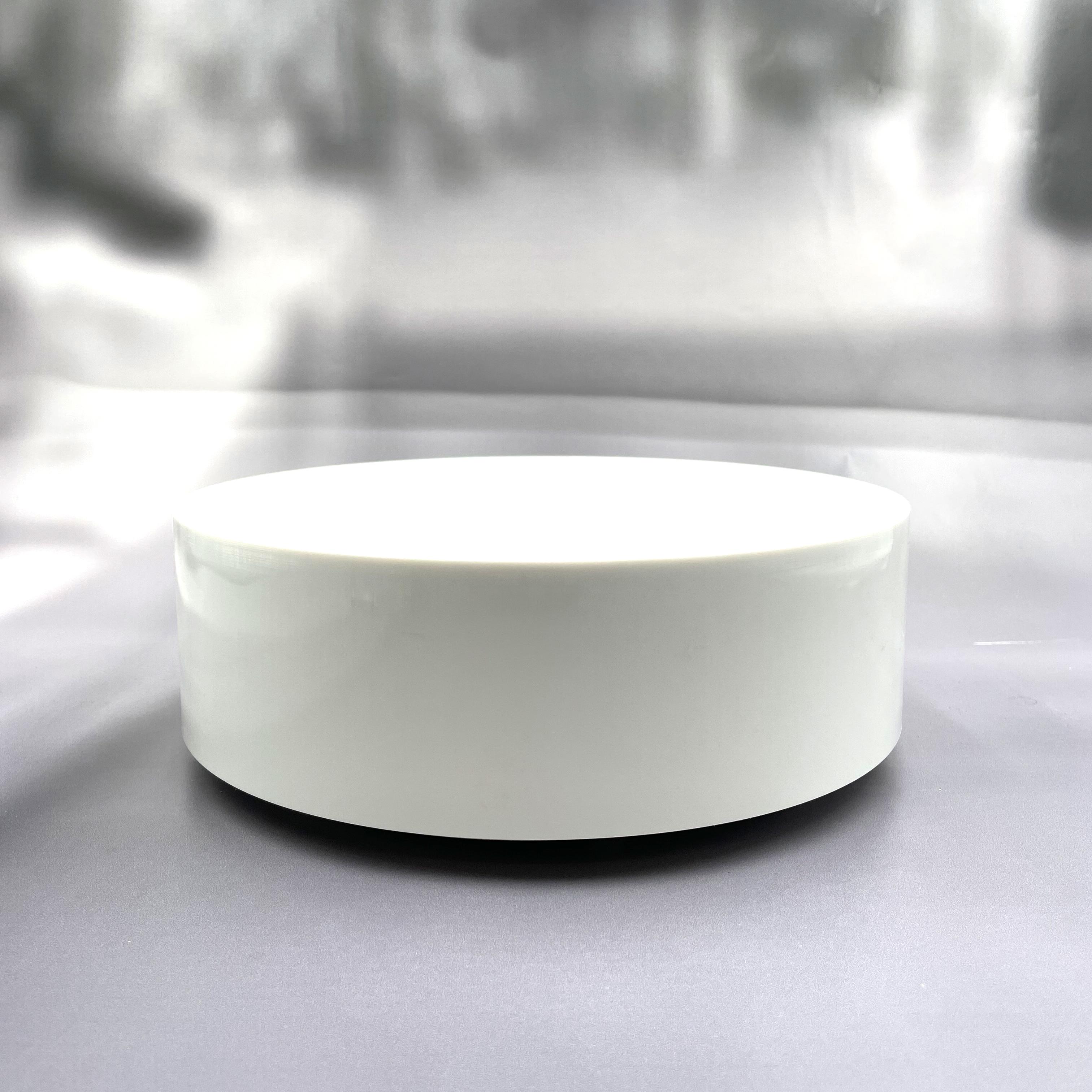 Hochwertige Batterie-Drehbühne weiß - Laufzeit bis zu einem Jahr